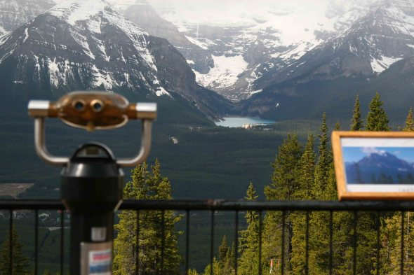 Viewing Deck and the Fairmont Chateau Lake Louise